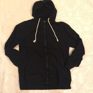 Zara Trafaluc. Black Zip Front Hoodie. Size S